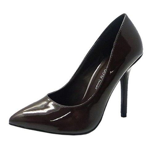 Wild Diva Pointy Toe Sexy Stiletto Pumps Apricot or Black Wiadora-03 (8.5, Black)