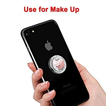 Mirror Cellphone Ring Stand Holder, DIGITWHLE Smart Phone Ring Holder Mirror Series Stylish 360°Rotation 180°Flip Ring Stand Grip Mount for iPhone X 8 7/7 Plus,Samsung Galaxy S8/S7, ipad -Silver