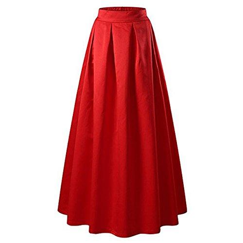 b0aae13f2a JANAK Women's Silk Skirt(DN126, Red, Medium): Amazon.in: Clothing &  Accessories
