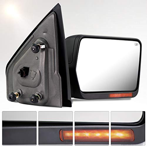 - Make Auto Parts Manufacturing Textured Black Power Operated Passenger Right Side Door Mirror with Heated Glass For Ford F150 2004 2005 2006 & For Lincoln Mark LT 2006 - FO1321242