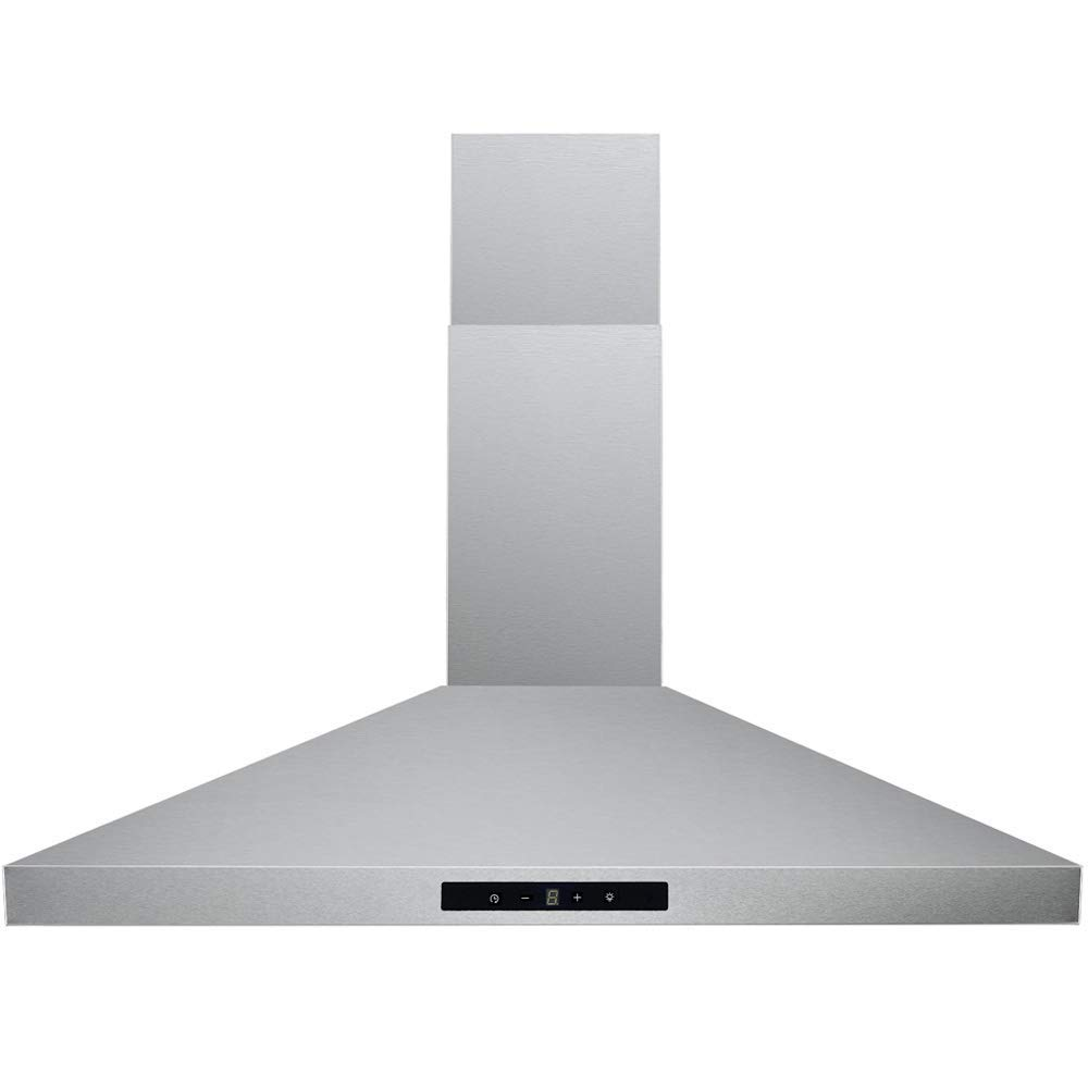 "DKB Wall Mounted Range Hoods Brushed Stainless Steel 400 CFM (Silver4, 30"" Touch Sensitive)"