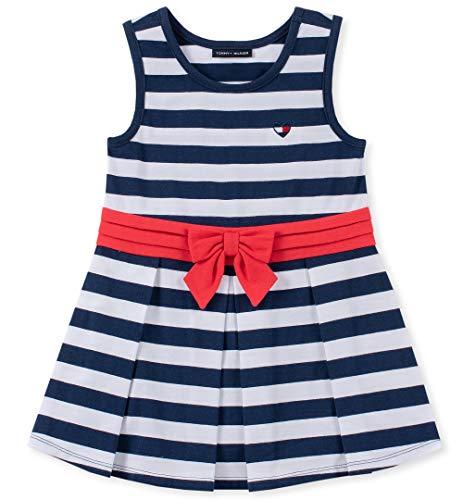 Tommy Hilfiger Girls' Little Dress, Navy/White Stripes 5 (Hilfiger Kids)