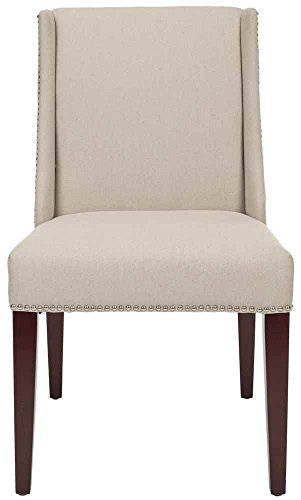 Safavieh Mercer Collection Linda Linen Side Chairs, Beige, Set of 2