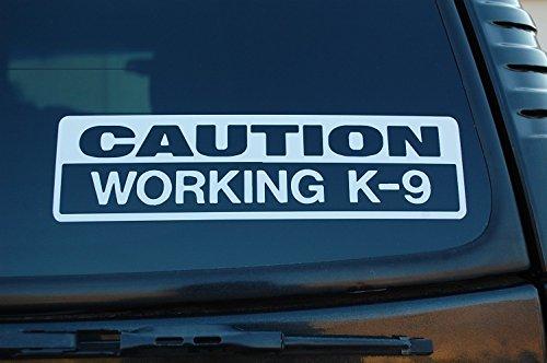 K-9 Caution Working K9 Vinyl Sticker Decal Police Dog Law Enforcement Choose Color & Size (V450) (8