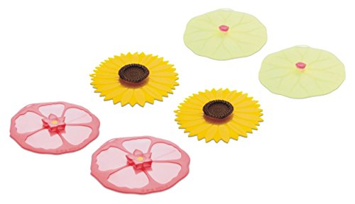 Charles Viancin Drink Covers or X-Small Lids - Set of 6 Hibi