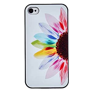 LIMME- ships in 48 hours sold out Colorful Petals Coloured Drawing Pattern Black Frame PC Hard Case for iPhone 4/4S