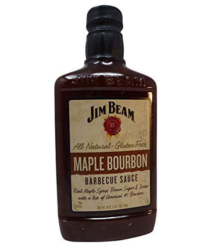 Jim Beam Maple Bourbon BBQ Sauce 18 oz. bottle (Beam Sauce Barbecue Jim)