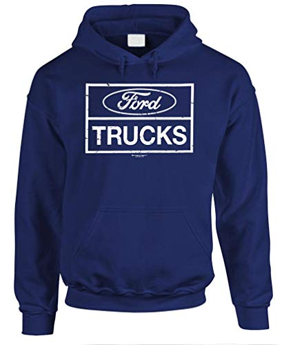 Ford Trucks F150 F250 4x4 Offroad - Unisex Pullover Hoodie, Navy, Medium (2006 Ford F250 4x4 Front Axle Diagram)