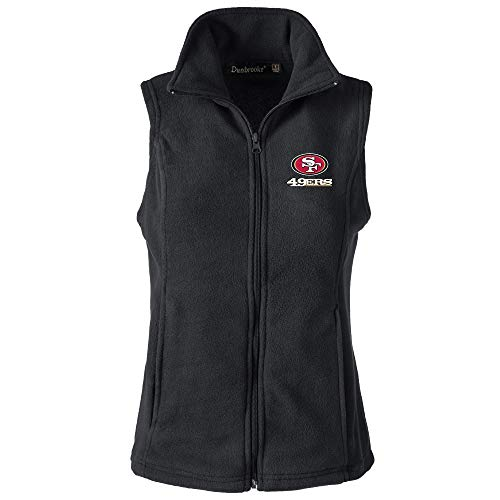 (NFL San Francisco 49Ers Womens Houston Ladies Fleece Vest, Black, Large)