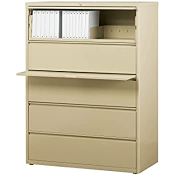 office dimensions commercial grade 42 wide 5 drawer lateral file cabinet with. Black Bedroom Furniture Sets. Home Design Ideas