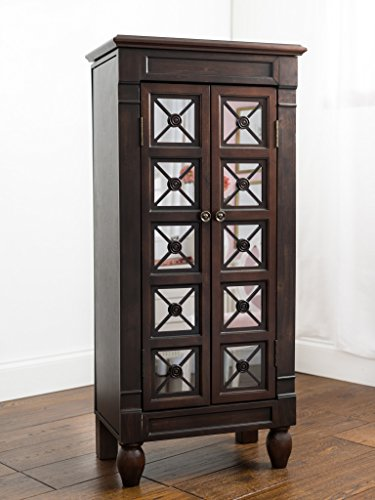Hives and Honey Kelly Espresso Jewelry Armoire Jewelry Stand Jewelry Chest