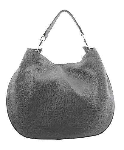 SLINGBAG Lotta Handtasche / Schultertasche / Beuteltasche / Leder / FARBAUSWAHL Grau