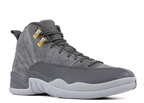 Jordan Air 12 Retro Mens Shoes Dark Grey/Dark Grey/Wolf Grey 130690-005