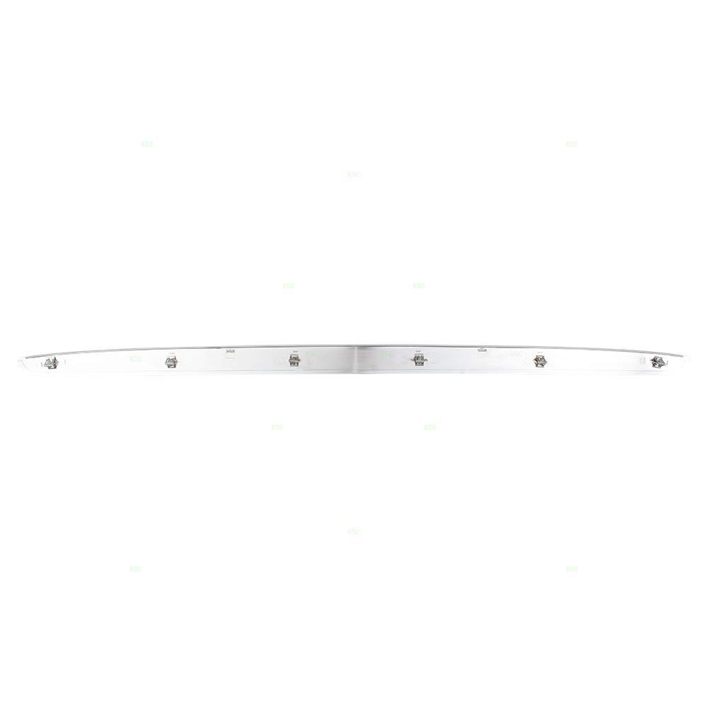 Chrome Front Hood Grille Panel Trim Molding Replacement for 07-14 GMC Yukon /& Yukon XL 15137020