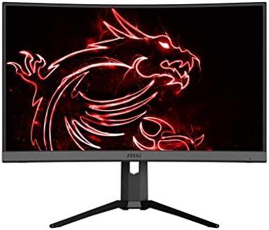 "MSI 27"" WQHD (2560 x 1440) Non-glare HDR Ready 165Hz 1500R Curvature 1ms 16:9 HDMI/DP/USB AMD FreeSync Height Tilt Adjustment Curved Gaming Monitor (OPTIX MAG272CQR), Black"