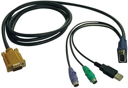 Tripp Lite P778-015 USB/PS2 Combo Cable for Select KVM (15 Feet),Black