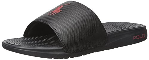 Polo Ralph Lauren Men's Rodwell Slide Sandal, Black, 10 D - Ralph Polo S Lauren