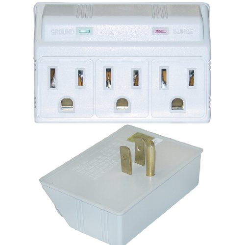 eDragon Surge Protector, 3 Outlet, MOV 270 Joules LED Power Indicator Computer Surge Protector, (ED70357)