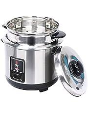 Roestvrijstalen stoomboot rijstkoker, One-Button Control roestvrijstalen binnenpot, geschikt voor 1-5 personen Multifunctionele All-Steel