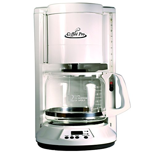 (Coffee Pro 12-Cup Automatic Brewer - 12 Cup - White)