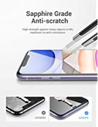 AINOPE [4 Packs] Screen Protector Compatible with iPhone 11 & iPhone XR Tempered Glass Screen Protector [Install Frame] [Force Resistant Up to 23 Pounds] Case Friendly for Apple 6.1 & iPhone 11