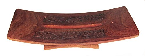 Carved Wooden Incense Burner (Double Carved Wooden Incense Burner from India)