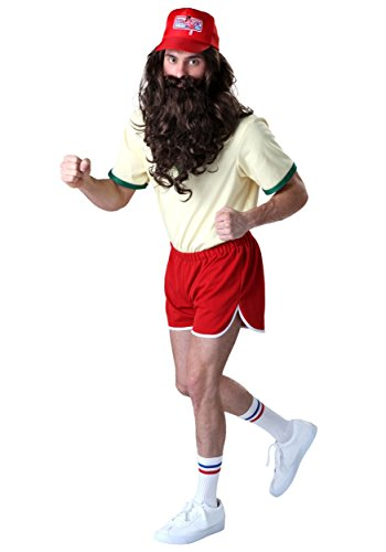 Forrest Gump Running Costume Set with Wig/Beard X-Small