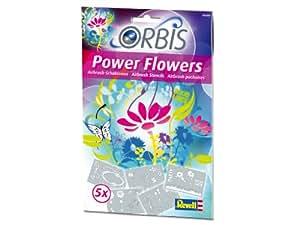 Orbis Flower Power - Juego de 5 plantillas para aerógrafo diseño Flores [Importado de Alemania]