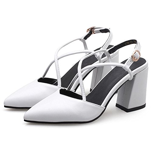 Coolcept Women Solid Slingback Sandals White q3LpPwT3