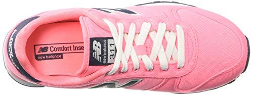 5203ccb5298ed New Balance Women's 311v1 Sneaker, Bleached Guava/Nubuck Navy, 11 D US