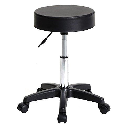 Teekland Rolling Swivel Stool Round Bar Stool Adjustable Chair with Wheels for Salon Spa Massage Tattoo Bar by Teekland