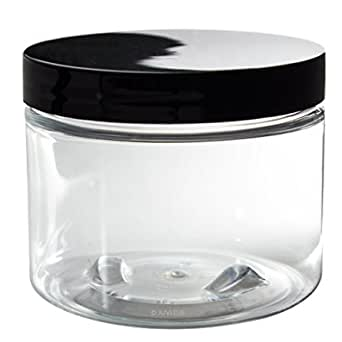 Juvitus Clear Refillable Travel Jar 6 Oz Labels Industrial Scientific