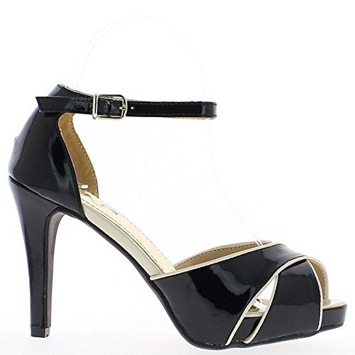 plateau Open black 12cm pumps women and heels YqqP6w
