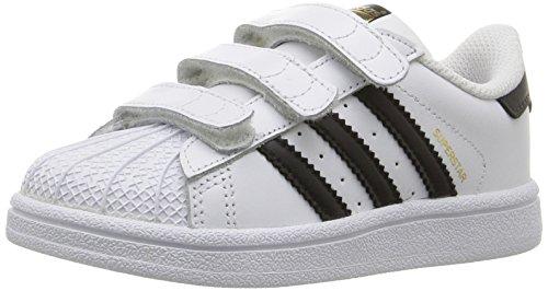 adidas Originals Infant Superstar Foundation Cloudfoam Sneaker, Core Black/White, 8K (Adidas Neo V Jog Infant & Toddler Sneaker)