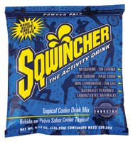 Sqwincher Tropical Cooler (Sqwincher 016009-TC 9.53 oz Powder Concentrate Electrolyte Replacement Beverage Mix, 1 Gallon Yield, Tropical Cooler Flavor (Case of 80))