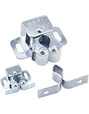 HQDeal 12PCS Door Catches, Double Roller Strong Hold Cupboard Cabinet Door Catches with Screws, Double Roller Catch Cabinet Catch Door Latch for Home Furniture Cabinet Cupboard