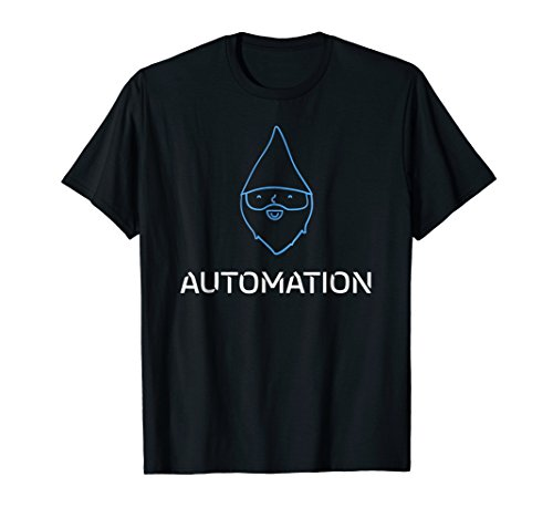 Gnome Tees: Gnome Automation Funny Geek and Nerdy T-Shirt (Plumber Gnome)