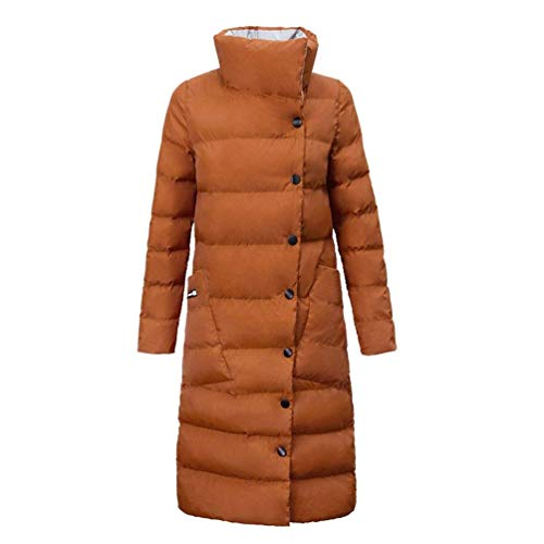 Cheminée Col Bouffant Chic Debout Stepp Battercake Longues Parka Manches Elégante Fashion Caramel Manteau Épaissir Hiver Décontracté Warm Doudoune Femme Mode qBzqwPT7