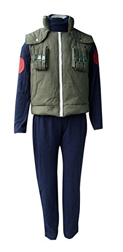 (ZYHCOS Halloween Cosplay Costume Mens Green Thick Vest Blue Flocking Hoodie Sets (Mens-M,)