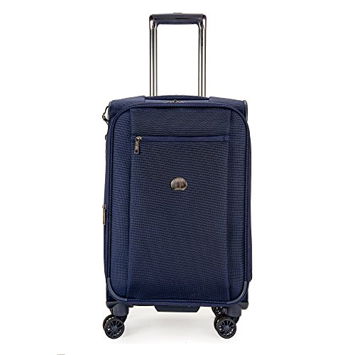 delsey-luggage-montmartre-21-inch-expandable-spinner-carry-on-suitcase-navy