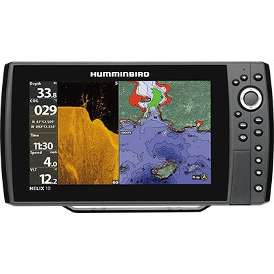 Johnson Outdoors Hummingbird 410510-1 Helix 10 Chirp Mega DI GPS G2N Fishing-Charts-and-maps, Black