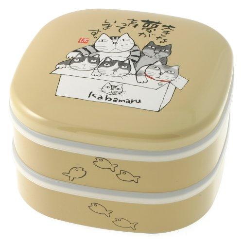 Kotobuki 2-Tiered Bento Box, Kabamaru Cats Picnic