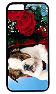Lovely Sweet Cute Dog Puppies Custom Masterpiece Limited Design Case for iPhone 6 Plus PC Black by Cases & Mousepads