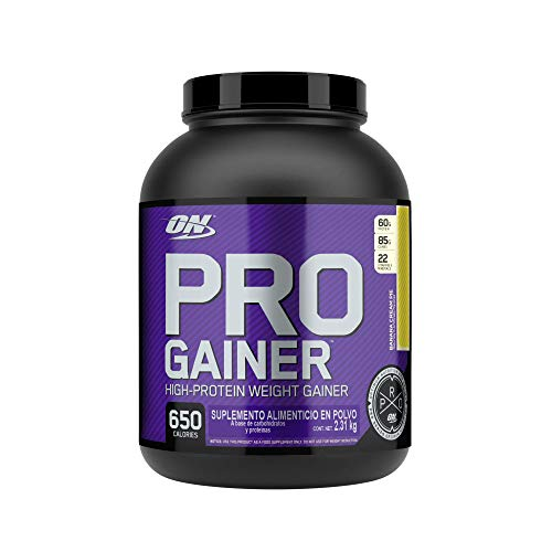 Optimum Nutrition Pro Gainer Weight Gainer Protein Powder, Banana Cream Pie, 81.44 Oz