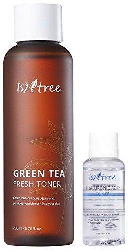 Bark Cotton Extract Root (ISNTREE Green Tea Fresh Facial Toner 200ml, 6.76 fl. oz. | Deep Moisturizing | Sebum Control | Nourishing | Revitalizing | Hypoallergenic | Dermatologist Tested)