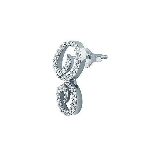 Giantti Diamant Pendentif Femme Collier (0,42CT, qualité HSI, Gh-colour)