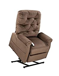 3 Position Lift Chair with Chaise Pad Color: Chocolate