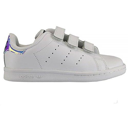 Adidas Little Kids Stan Smith (silver   metallic silver   footwear white)  Size 3 US - Buy Online in Oman.  06e740b13