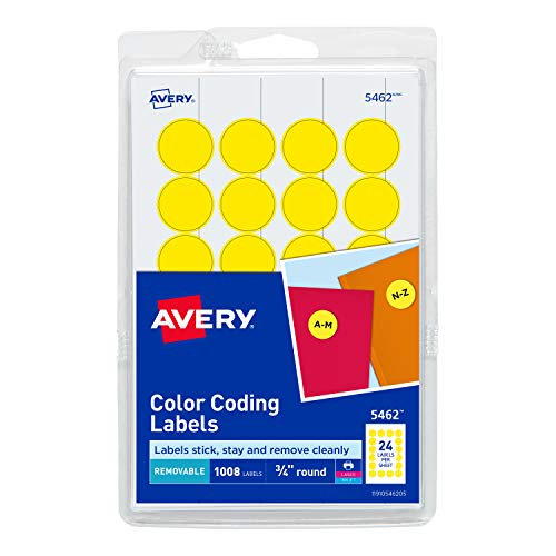 1 x 3 Inches 5481 200 Labels Avery Removable Print or Write Color Coding Labels