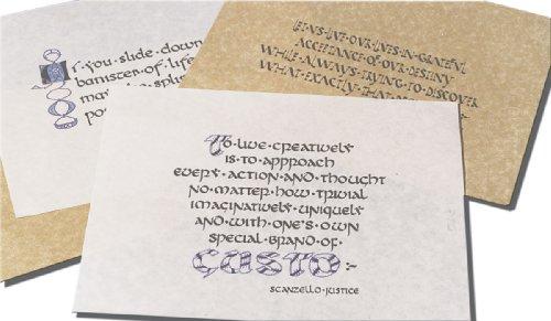 Inovart Calligraphy Parchment Paper Antique Gold 11 X 14